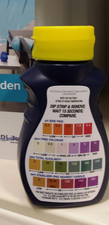 teststrips water aquachek ph chloor alkaniteit en stabilisator